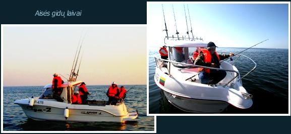 Žvejyba, pasiplaukiojimai, nardymo turai
